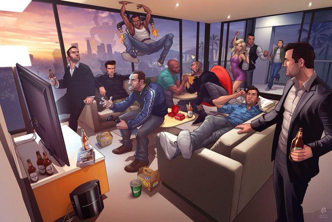 Ketika semua Tokoh Grand Theft Auto Berkumpul