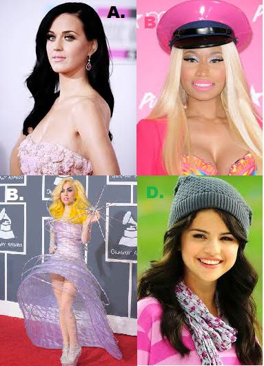 Sobat Pulsker pilih yang mana? A. Katty Perry B. Nicki Minaj C. Lady Gaga D. Selena Gomez Tulis di komen ya sob dan jngn lupa wownya :D