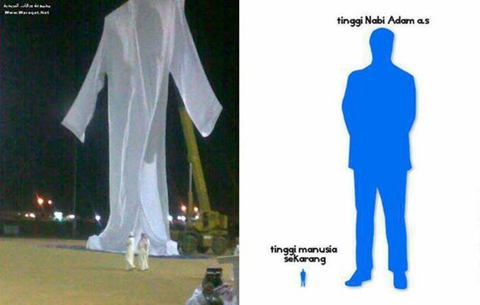 """Subhanallah,, inilah replika baju Nabi Adam Alaihissalam Rasulullah bersabda : """"Dahulu Allah mencipta Adam alaihissalam yang tingginya enam puluh hasta"""" (HR Imam Bukhari No. 3326)"""