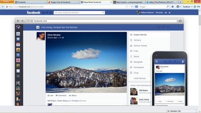 Ini web untuk daftar tampilan facebook yang baru https://www.facebook.com/about/newsfeed