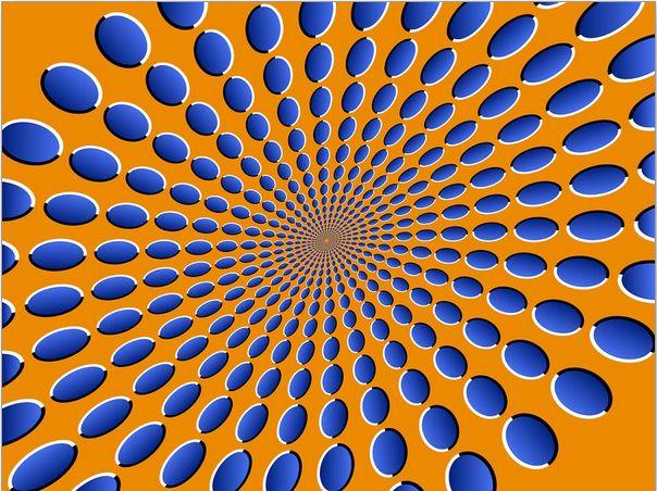 WOW PIC [Optic Illusion] sobat pulsker ngerasa gak titik-titik tersebut seperti bergerak?