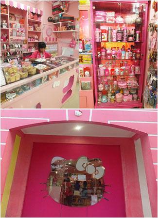 Jangan mengaku penggemar Hello Kitty jika belum datang dan bersantap ke cafe yang satu ini. Anda akan dimanjakan dengan berbagai pernak-pernik, desain interior hingga makanan yang bentuknya serba Hello Kitty.
