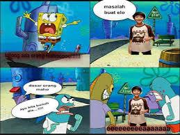 Iqbal cjr di katain maho sama spongebob hahahahah please wownya