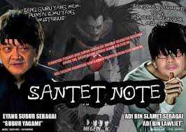 "nich anime terbaru ""SANTET NOTE"" wkwkwkwk lucu gk??"