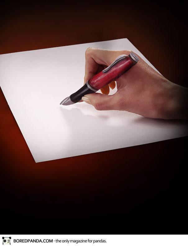 bisa bedakan mana yang pena mana yang jari?