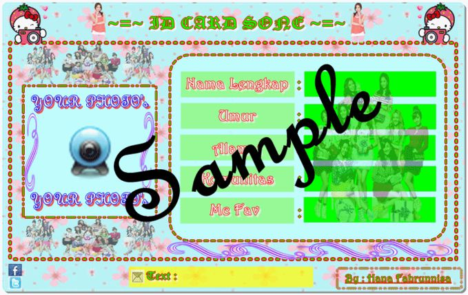 Ada yang mau ID CARD VERSIKU ??? Cukup Add Me & Follow Me :) ~ Add : Hana Ithu Nak Spensame ~ Follow : @Hana_Twisone Inbox Me :)