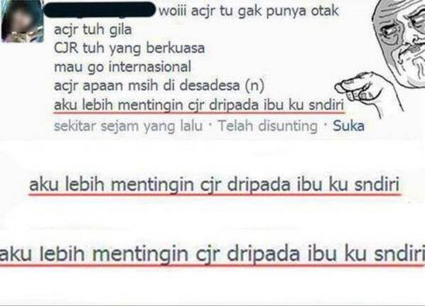 terlalu mainstream :D #ACJR