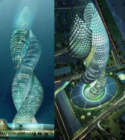 The Cobra Tower di Kuwait.