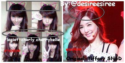 Mulai plagiat lagi nihhh mau jadi apa indonesia ini cherly cherrybelle plagiat tiffany snsd di i got a boy