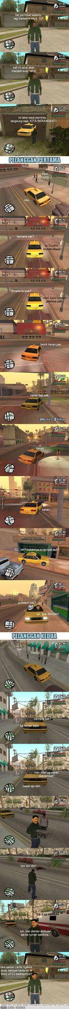 Cj jadi supir taksi story