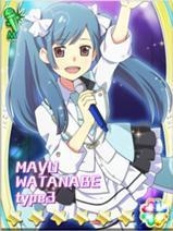 Mayu Watanabe!! Ini ada anime nya kok, namanya AKB0048...... Minta wow ding