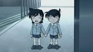 inilah foto Ran dan Shinichi saat kecil di komik Detektif Conan