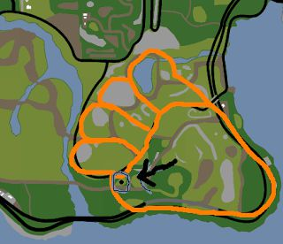 2. BÑ?g Foot footprint Ñ?n map Coba deh liat peta GTA SA di PS kamu.. kamu ngerasa ada yang aneh ga? soalnya di peta itu kayak ada gambar jejak kaki kalo ga percaya liat aja nih gambar!