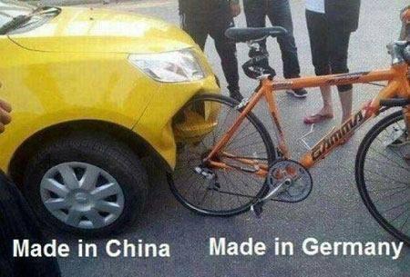 ternyata sepeda germany lebih berkualitas dari mobil buatan china,, hahahah