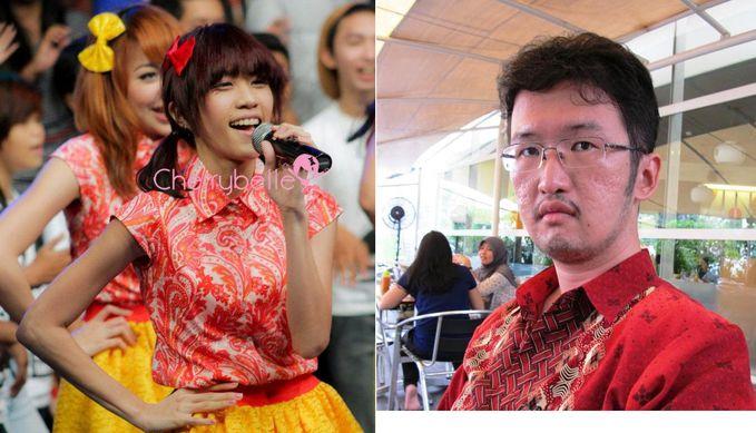 Gambar kiri itu yang ORI, Kak Gigi ChiBi (Brigitta Cynthia). Yang kanan, itu KW-4 nya. Si KW-4 nya malah lebih senang sama Tante Angel ChiBi.
