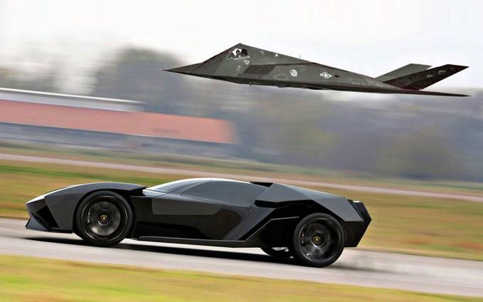 Lamborghino Ankonian VS Stealth Jet pilih yang mana ??