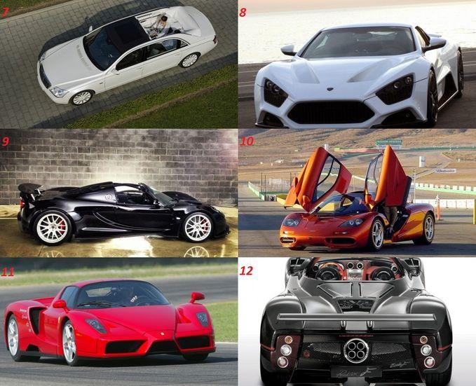 PART 2 7.) Maybach Landaulet $1,380,000 8.) Zenvo ST1 $1,225,000 9.) Hennessey Venom GT Spyder $1,100,000 10.)McLaren F1 $970,000 11.)Ferrari Enzo $670,000 12.)Pagani Zonda C12 F $667,321 WOW ny mana.. Hargain yg buat nya.. ^^v
