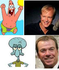 Terbongkar! Inilah Dia Sosok pengisi suara patrick star dan squidward atau tokoh film kartun spongebob.