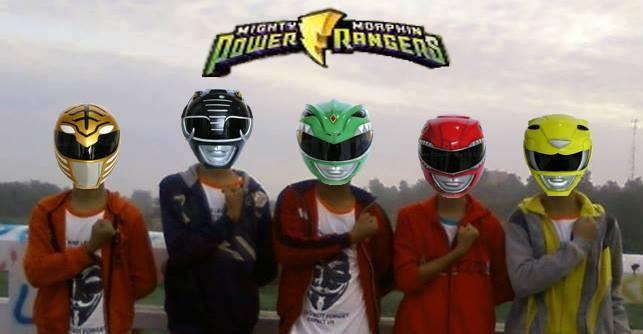 berubah power rangers