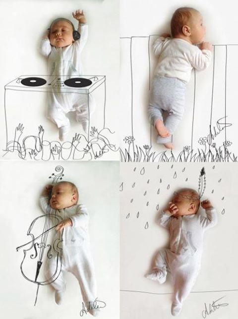 Nik Kreasi Unik Bagi pasangan yang baru punya Bayi, menggambar tempat tidurnya jadi seperti ini, biar bisa jadi kenang kenangan juga buat si kecil nanti :)
