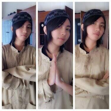 ghaida jkt48 pakai baju muslim buat cowok, wow nya yah