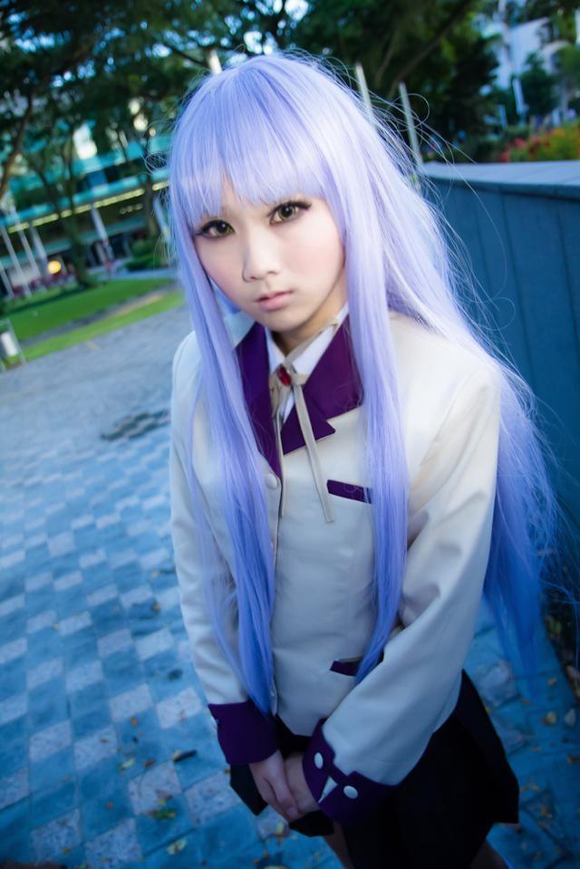 cosplay tachibana kanade ~ angel beats kawaii..... WOW nya ya please...