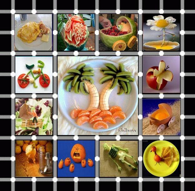 Buah buahan yang dirangkai menjadi bentuk yang lucu dan unik. ada yang minat buat makan ini