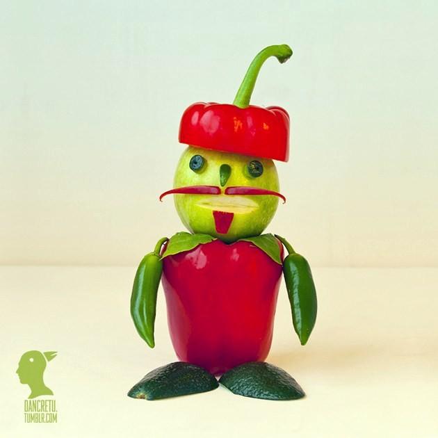 Kreasi unik dari sayuran,, hehe lucu yah,, wownya donk,, hehe
