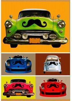 The Car Mustache Magnet