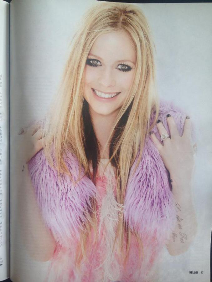 Avril in HELLO! Magazine