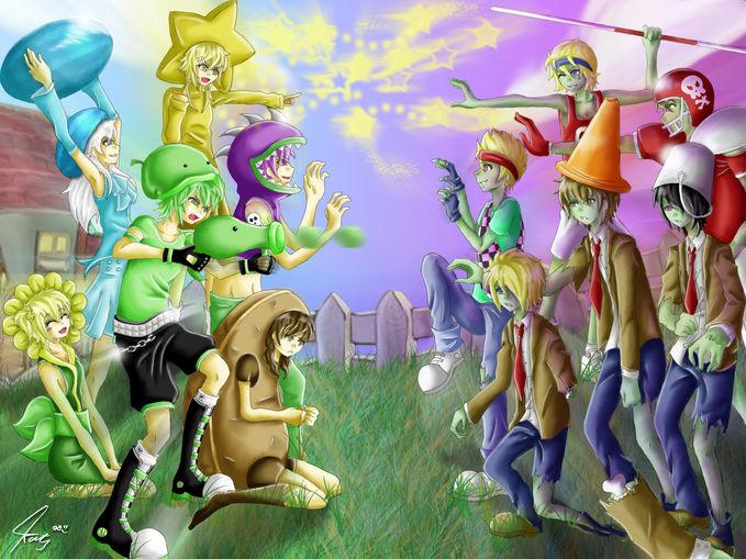 Plants VS Zombie Versi Anime... Jangan Lupa WOW ya... :)