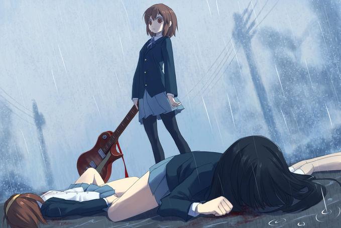 K-ON ( Yui , Ritsu , Mio ) Yui Yandere ...... O_O