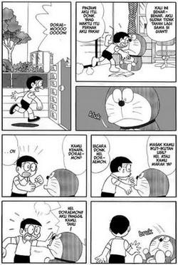 """Kisah terakhir nobita....doraemon... Memang..., komik Doraemon memilki cerita yang menggantung. Bukan tanpa alasan, mengingat Fujiko Fujio, sang kreator jenius ini wafat sebelum berhasil menamtakan cerita tentang Doraemon. Namun ternyata, belakangan ini, terfengar desas - desus, bahwa sebelum meninggal, Fujiko menyisipkan sebuah cerita tambahan, yang notabene merupakan episode pemungkas Doraemon.... Episode terakhir ini sangat terkenal dan disebar luas lewat forwardan email sejak tahun 90-an. Walaupun versi Inggrisnya yang dikenal luas lebih singkat dari aslinya yang berbahasa Jepang, inti ceritanya yang terkandung, tetap bisa kita tangkap/ Singkatnya, cerita terakhir Doraemon ini dibuka fengan adegan saat Nobita pulang dengan menangis karena diganggu Giant. Seperti biasa, ia merengek """" Doraemmmoonnnn... !"""" """" Pinjami aku ituu dong... """" """" Aku sudah tidak tahan lagi dengan sifat Giant... """" Tetapi, doraemon, sahabatnya tidak bergeming. Ia membisu dengan pandangan kosong, dan terjatuh ketika Nobita menyentuhnya. Alhasil, Nobita pun menghubungi Dorami, sang adik. Dorami pun mengatakan bahwa kemungkinan besar batere kehidupannya telah habis, namun sayangnya... sirkuit support Doraemon sudah tidak berfungsi karena sirkuit tersebut terletak di kupingnya yang hilang karena digigit tikus. Jalan satu - satunya adalah membawa pulang Doraemon ke masa depan untuk diperbaiki, namun sebagai resikonya, Memori dalam otak Doraemon akan ter-reset ulang sehingga otomatis kenangannya bersama Nobita akan hilang. Jalan lain adalah, menunggu seseorang yang dapat memperbaiki Doraemon dengan pengetahuan yang canggih. Sembari mengingat - ngingat kenangan manis dan segala pertualangan yang telah mereka lalui bersama, Nobita memutuskan jalan yang ke 2...Menunggu seseorang yang dapat memperbaiki Doraemon, dan itu orang tersebut adalah dirinya sendiri.... Sejak saat itu, hidup Nobita berubah 180 derajat. Ia menjadi murid yang rajin, tidak pernah terlambat, dan selalu belajar dengan tekun. Hingga s"""
