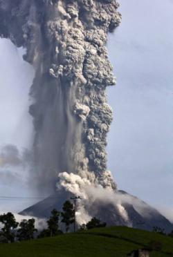 Letusan Dahsyat salah satu gunung di Sumatra