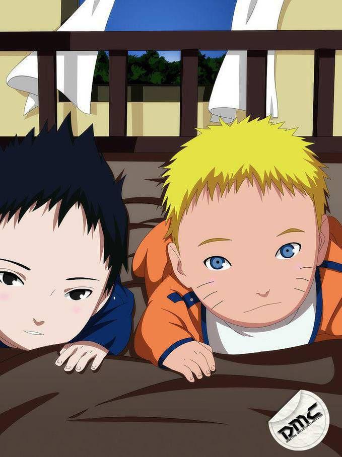 sasuke dan naruto sewaktu masih bayi,, Lutunaaaa,, :3 #naruto #sasuke