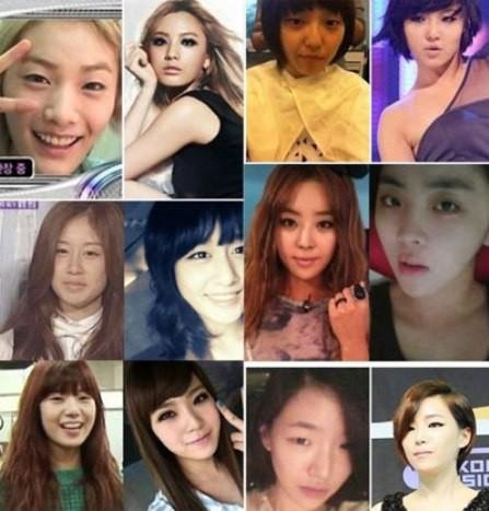 INI FHOTO ARTIS KOREA TANPA MAKE UP