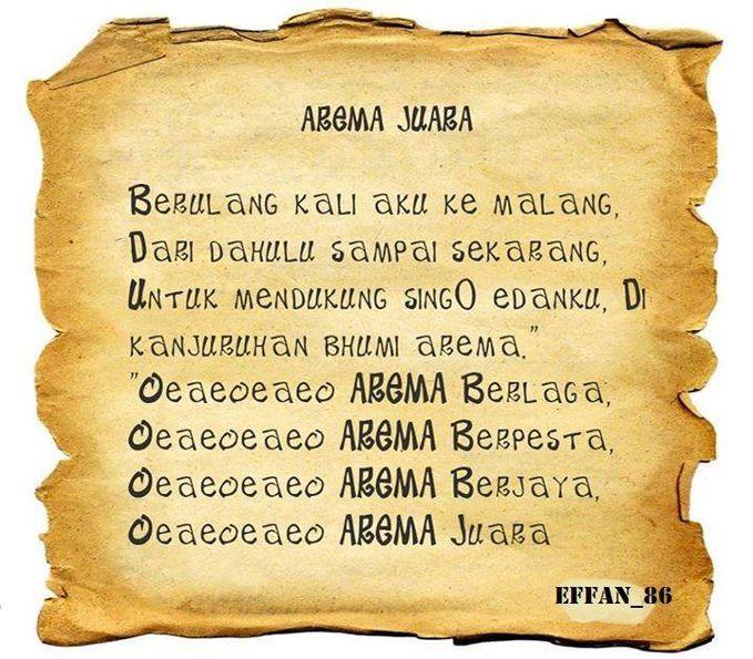 lagu terbaru dari sam yuli sumpil di nyanyikan saat piala gubernur... (*lirik kereta malam) AREMANIA...KREATIFITAS TANPA BATAS