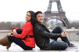 Michelle Ziudith sama Dimas Anggara waktu diacara Love In Parissosweet