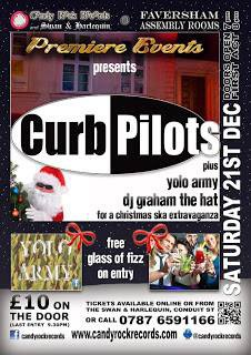 Saturday 21st December 2013 - CURB PILOTS + YOLO ARMY - at The Assembly Rooms Tickets £10 but £8 when you buy online from: http://www.candyrockrecords.com/