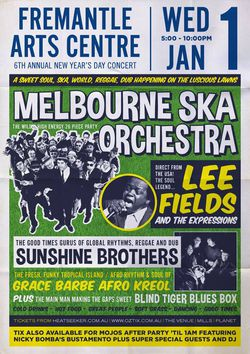 Dance-in 2014 ska-style at Fremantle Arts Centre NEW YEAR DAY CONCERT!