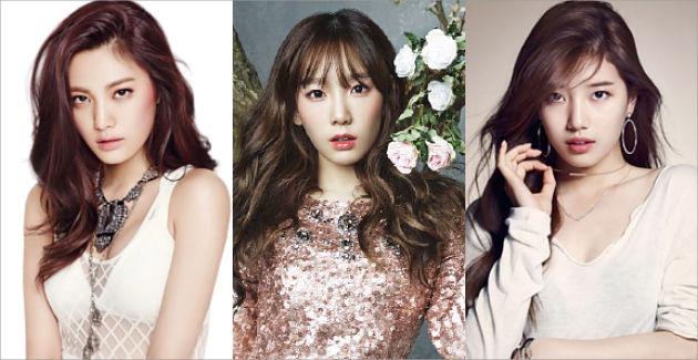 Nana After School, Tae Yeon Girls Generation dan Suzy miss A masuk dalam daftar 100 wajah tercantik di DUNIA.Selain mereka ada jga artis Korea lainny:Song Hye Kyo (24), Go Ara (34), IU (39), Jun Ji Hyun (43), Lizzy (63) dan E-Young (82).