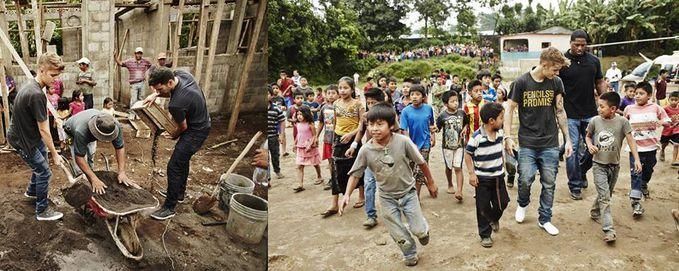 So proud with Justin! ini foto dia beberapa waktu lalu saat mengunjungi korban badai di Filipina bareng Pencils Of Promise(salah satu yayasan non-profit)
