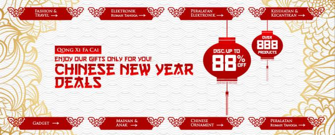 wow... chinese new year deals, diskon hingga 88%