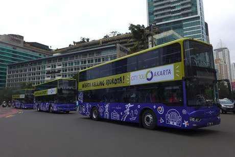 Asyik! Naik Bus Tingkat Wisata Jakarta Gratis lho