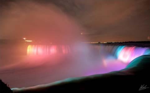 Niagara Waterfall,North America jika anda mengklik wow arnya akan berubah warna