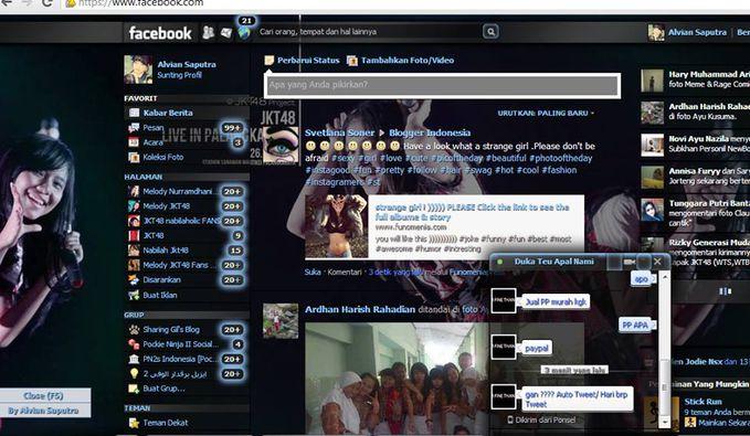 "SEBELUM SEDOT KLIK WOWE DLU GAN Theme facebook Special Untuk NABILAHOLIC dan SHANJUNISME di lengkapi dengan music FIRSTRABBIT,... "" Caranya sangat simple ikuti step2 di bawah ini: â?¢ Pertama copy semua script temanya disini "" [ http://goo.gl"