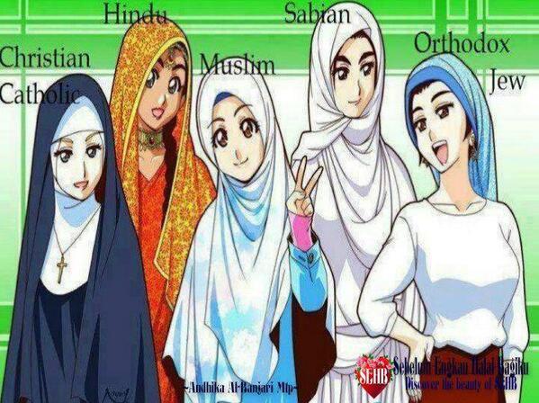 Non Muslimpun Berhijab Masa Ia Yang Muslimah Kalah