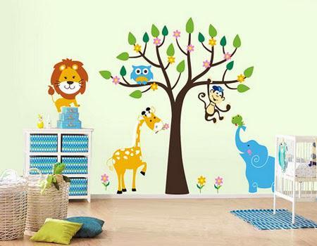 Desain Kamar Tidur Anak Full Wallpaper Dinding Keren