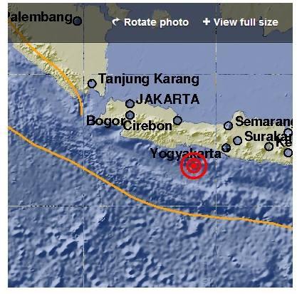 Gempa Mag:6.5 SR,25-Jan-14 12:14:20 WIB,48 Km,(104 km BaratDaya KEBUMEN-JATENG )