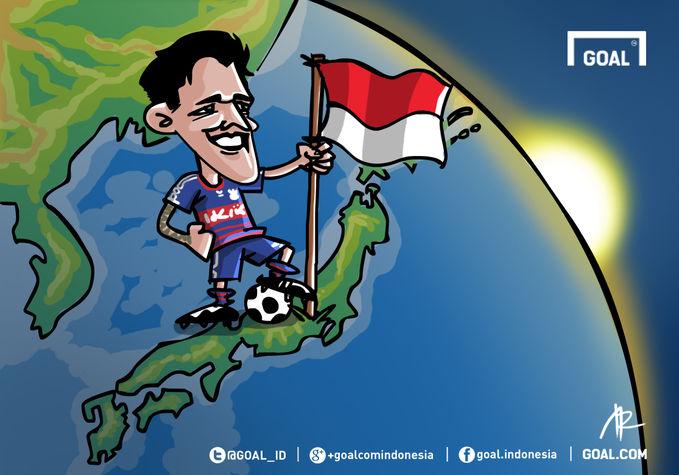 Irfan Bachdim kini siap meraih predikat sebagai pemain pertama Indonesia yang berkiprah di J-League.